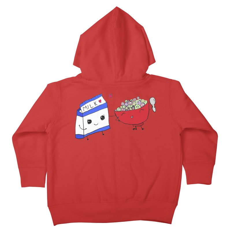 Cute Milk and Cereal Kids Toddler Zip-Up Hoody by Designs by Ryan McCourt