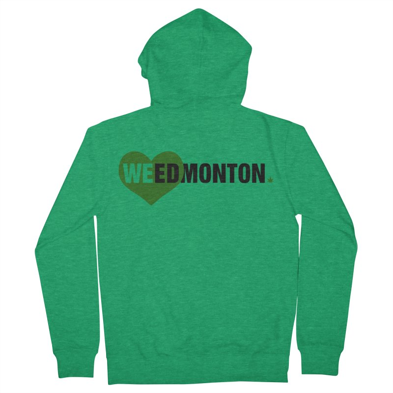 Weedmonton Women's Zip-Up Hoody by Designs by Ryan McCourt