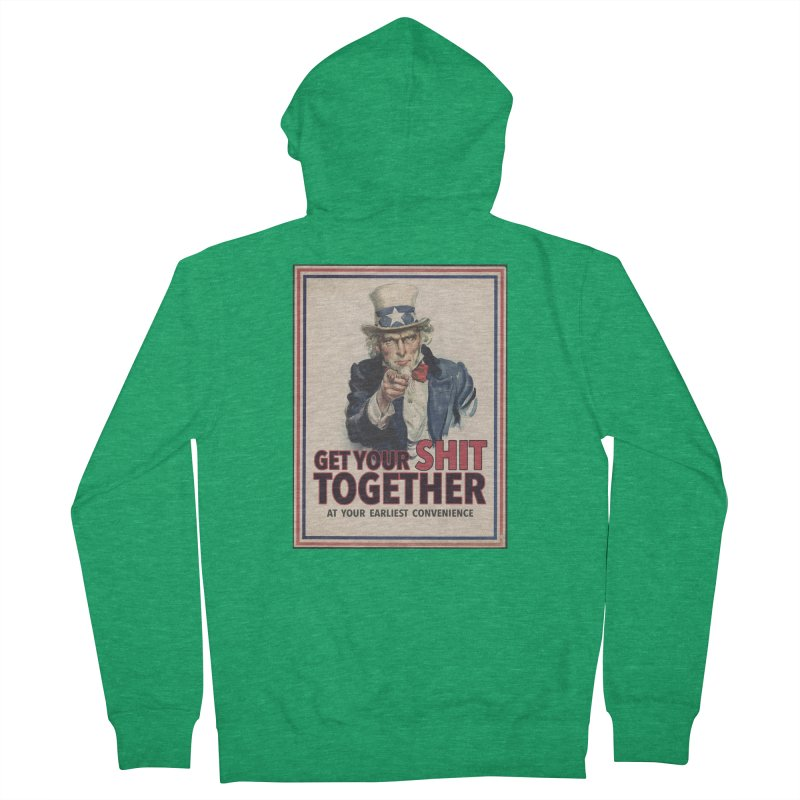 Uncle Sam says... Women's Zip-Up Hoody by Designs by Ryan McCourt