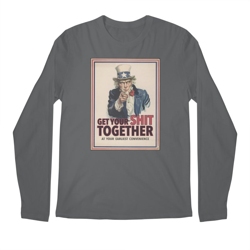 Uncle Sam says... Men's Longsleeve T-Shirt by Designs by Ryan McCourt
