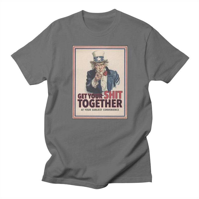 Uncle Sam says... Men's T-Shirt by Designs by Ryan McCourt