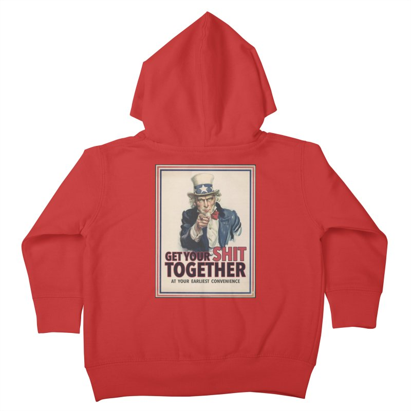 Uncle Sam says... Kids Toddler Zip-Up Hoody by Designs by Ryan McCourt