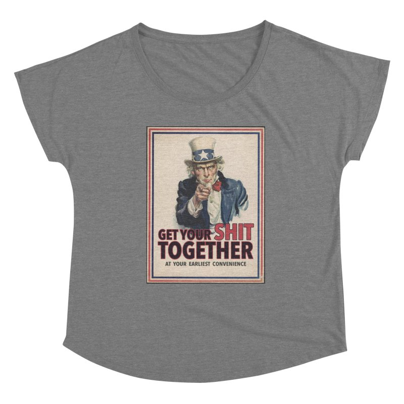 Uncle Sam says... Women's Scoop Neck by Designs by Ryan McCourt