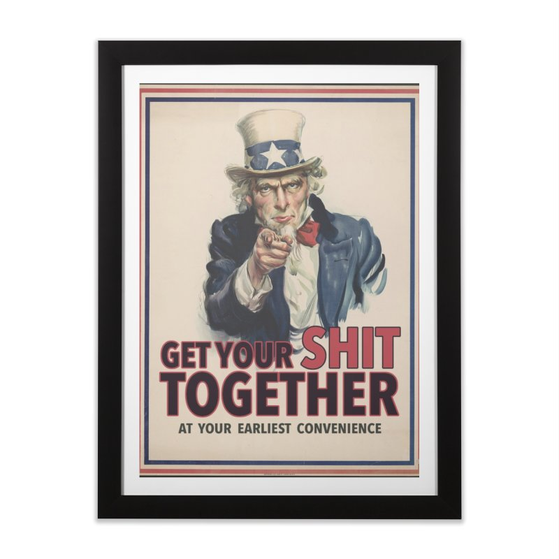 Uncle Sam says... Home Framed Fine Art Print by Designs by Ryan McCourt