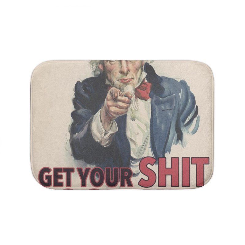 Uncle Sam says... Home Bath Mat by Designs by Ryan McCourt