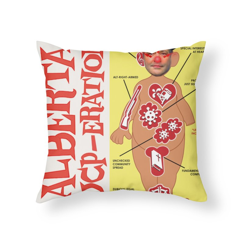 Alberta UCP-ERATION Home Throw Pillow by Designs by Ryan McCourt