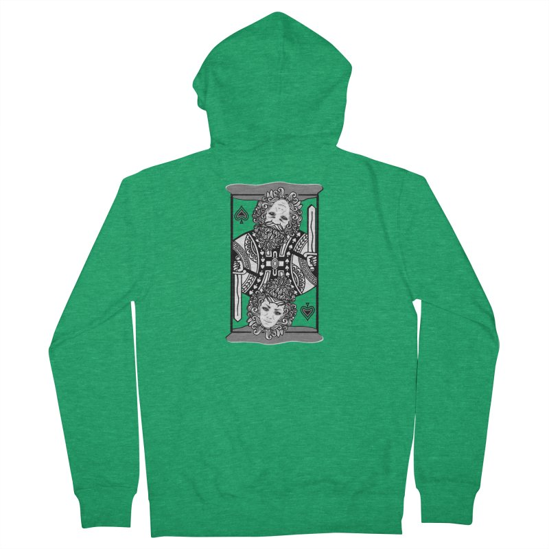 King of Spades Women's Zip-Up Hoody by Designs by Ryan McCourt