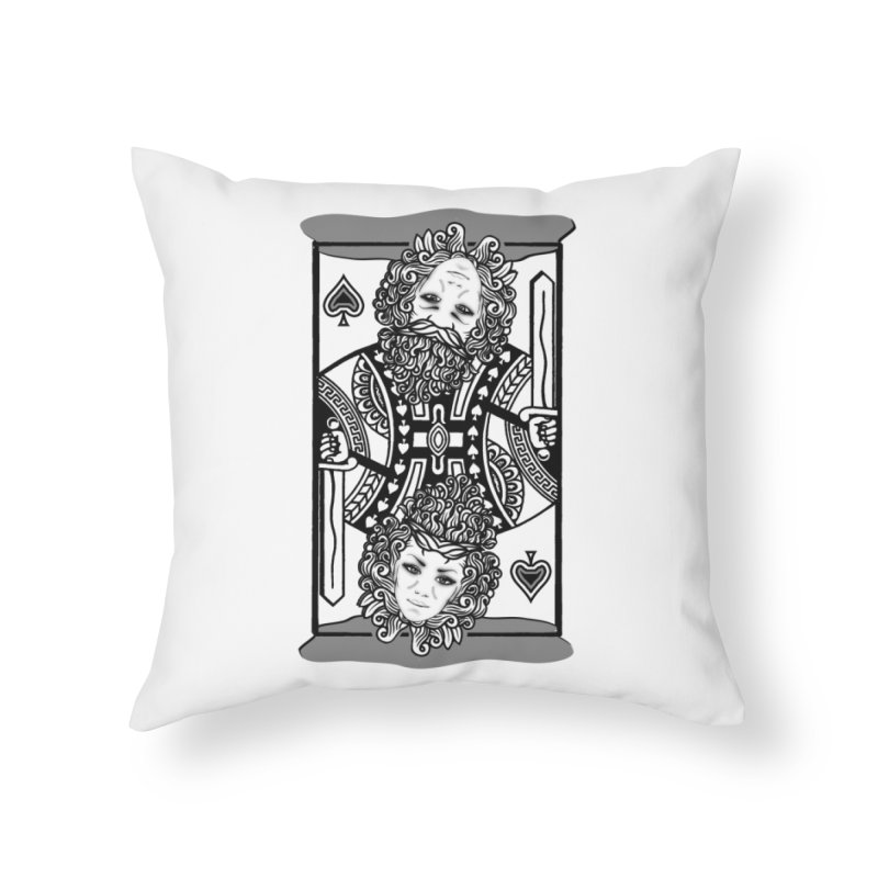 King of Spades Home Throw Pillow by Designs by Ryan McCourt