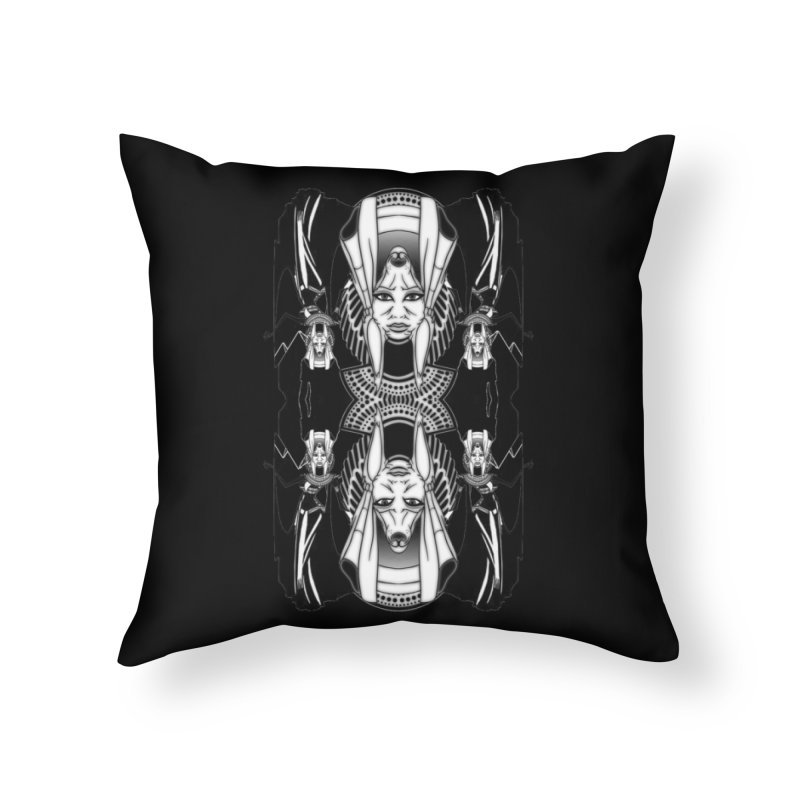 Isis & Anubis Home Throw Pillow by Designs by Ryan McCourt