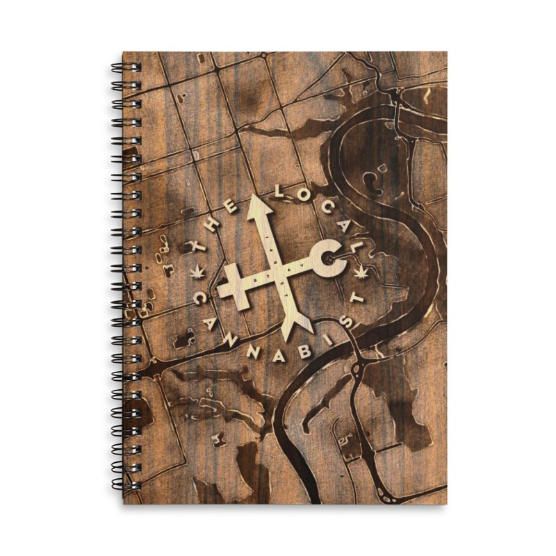 TLC wood map Accessories Notebook by Designs by Ryan McCourt