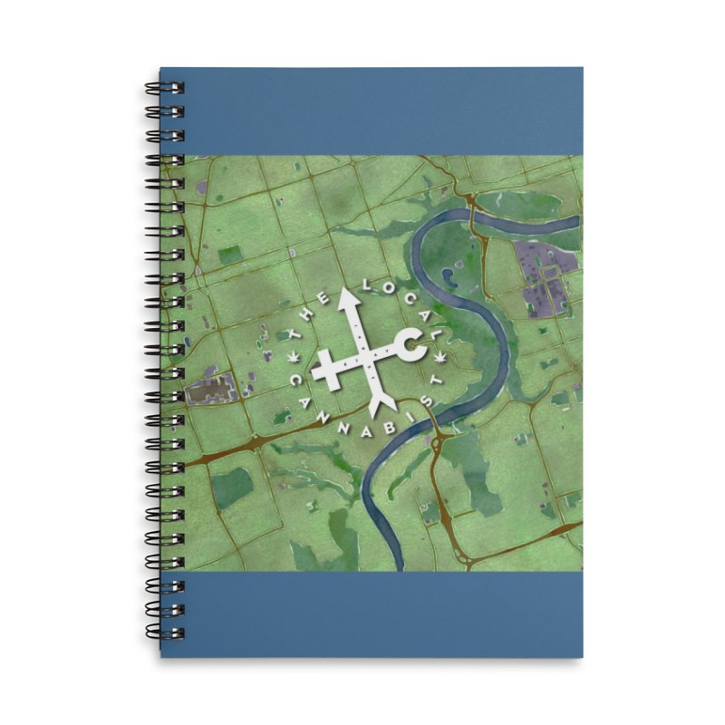 TLC watercolour map Accessories Notebook by Designs by Ryan McCourt