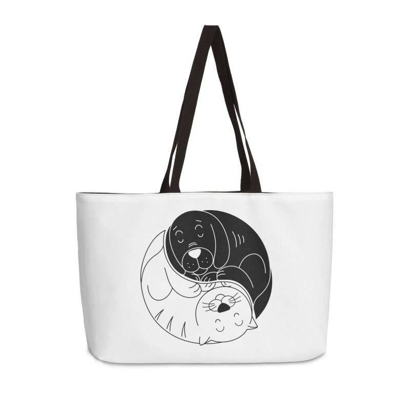 Cats And Dogs Accessories Bag by netralica