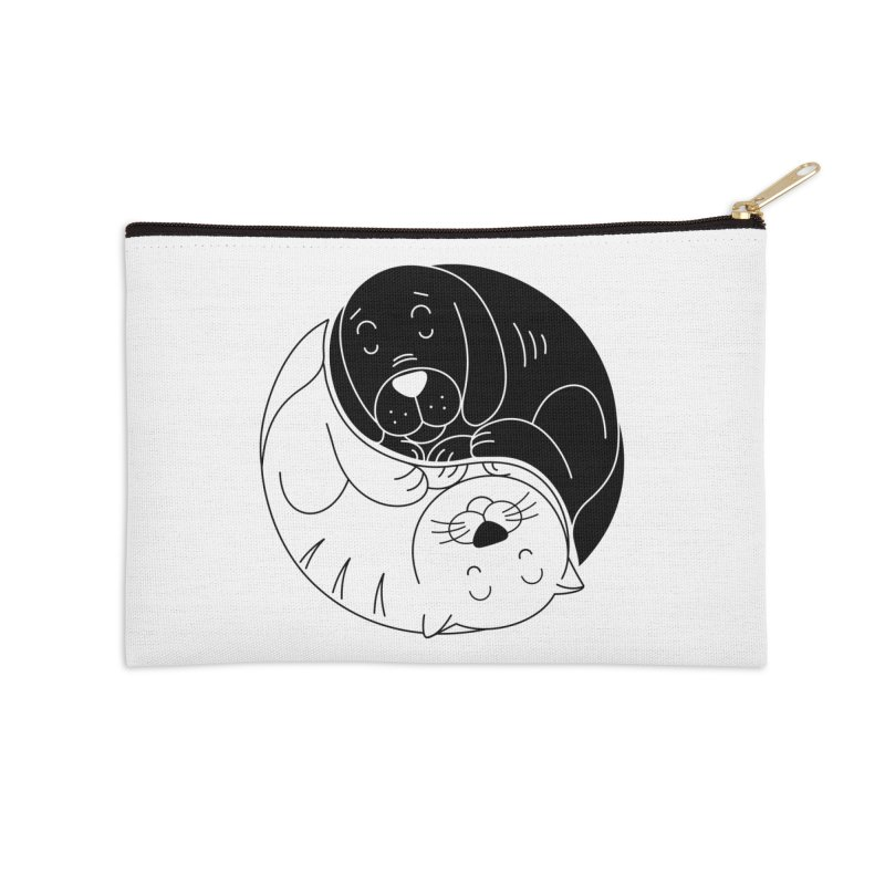 Cats And Dogs Accessories Zip Pouch by netralica