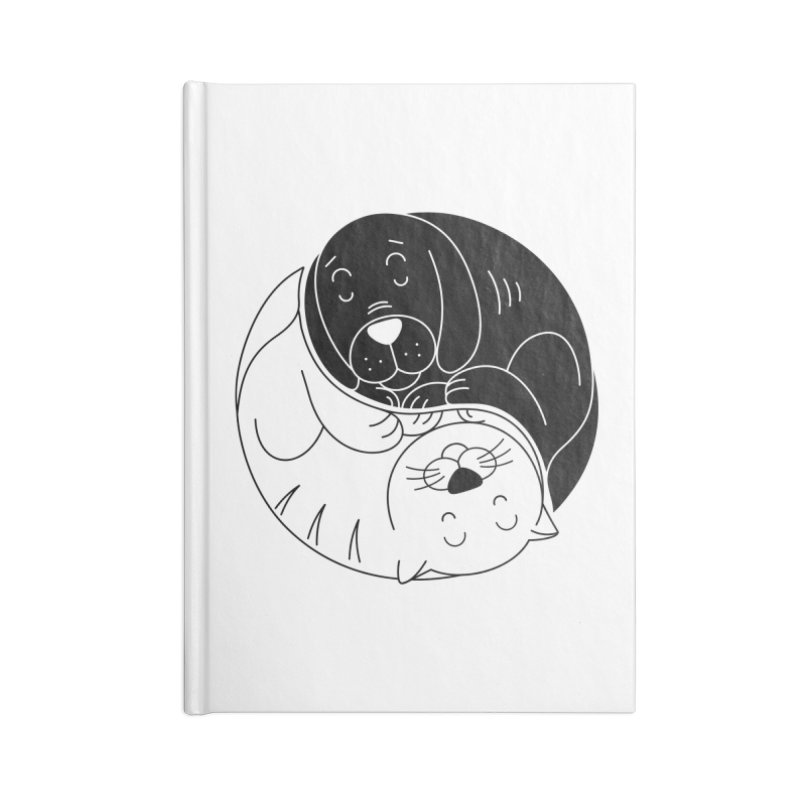 Cats And Dogs Accessories Lined Journal Notebook by netralica