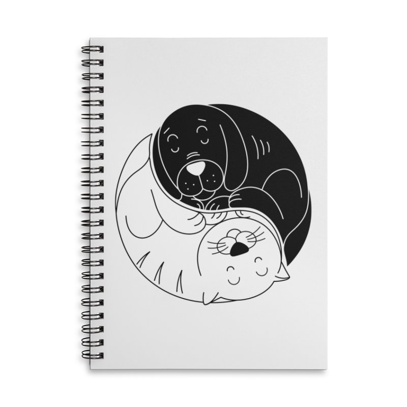 Cats And Dogs Accessories Notebook by netralica