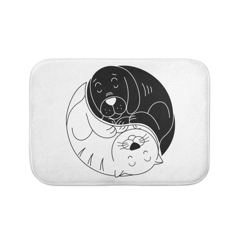 Cats And Dogs Home Bath Mat by netralica