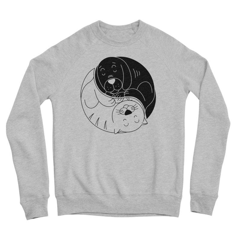 Cats And Dogs Men's Sponge Fleece Sweatshirt by netralica
