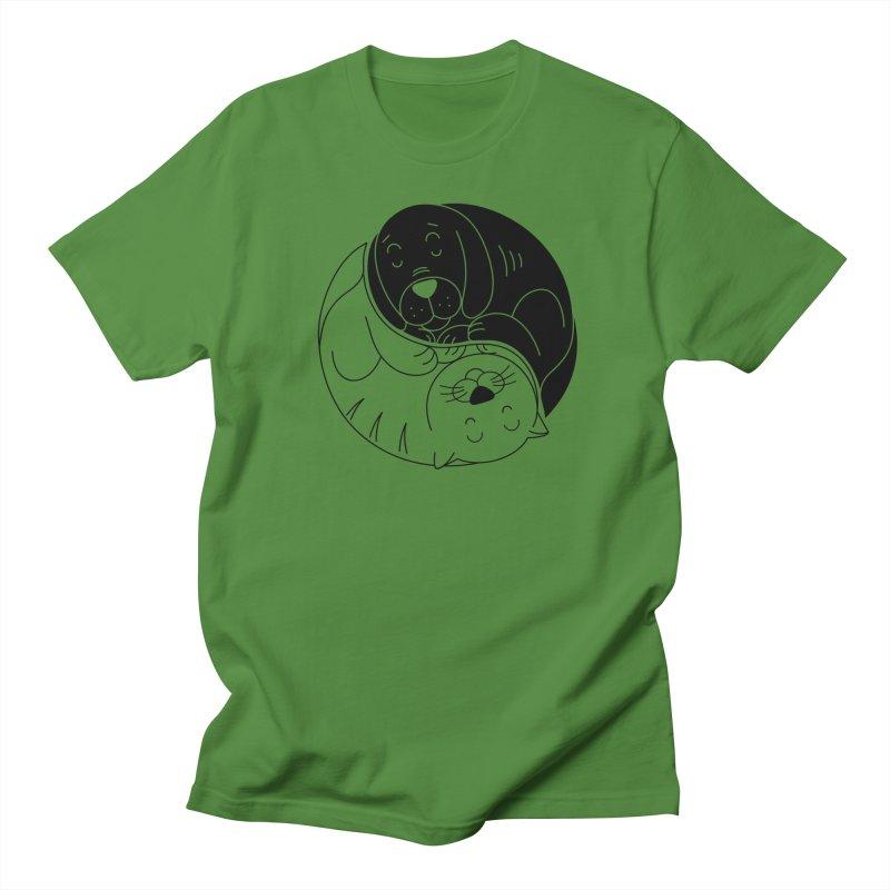 Cats And Dogs Women's Regular Unisex T-Shirt by netralica