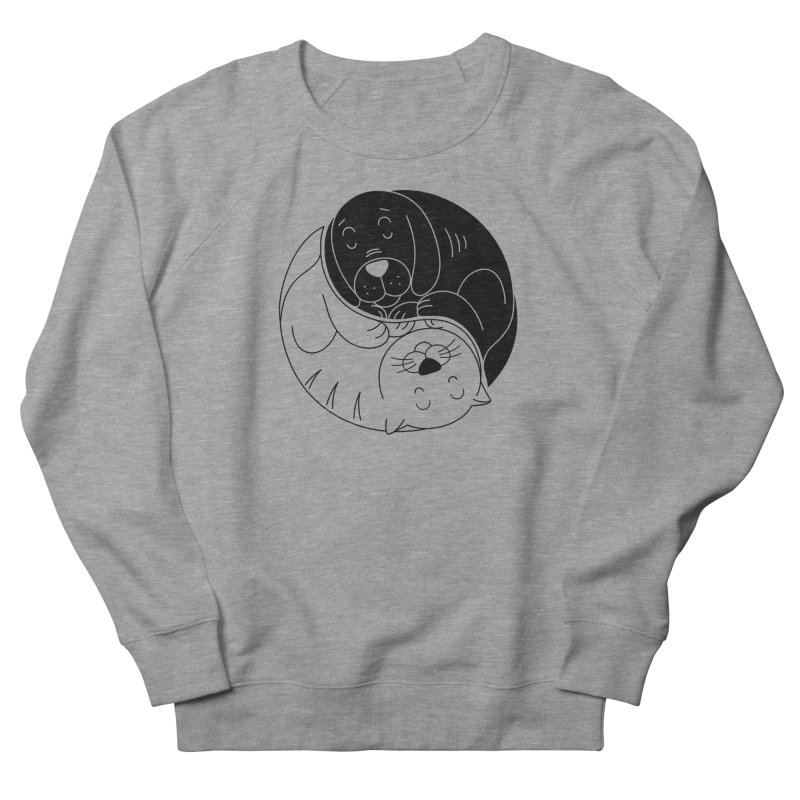 Cats And Dogs Men's French Terry Sweatshirt by netralica's Artist Shop