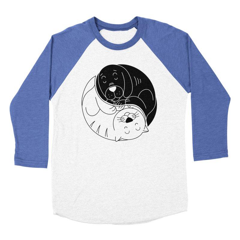 Cats And Dogs Men's Baseball Triblend Longsleeve T-Shirt by netralica's Artist Shop