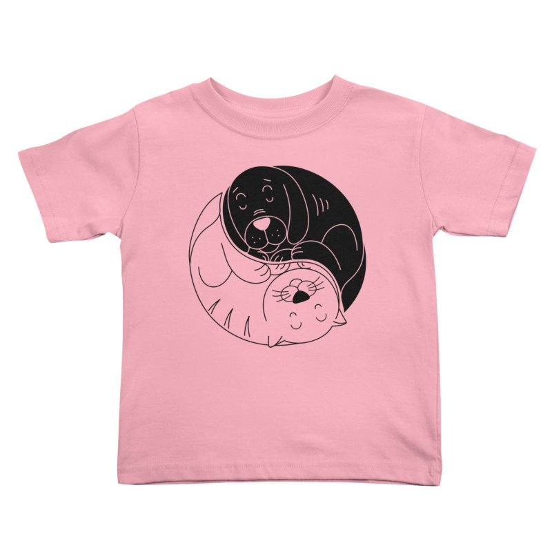 Cats And Dogs Kids Toddler T-Shirt by netralica