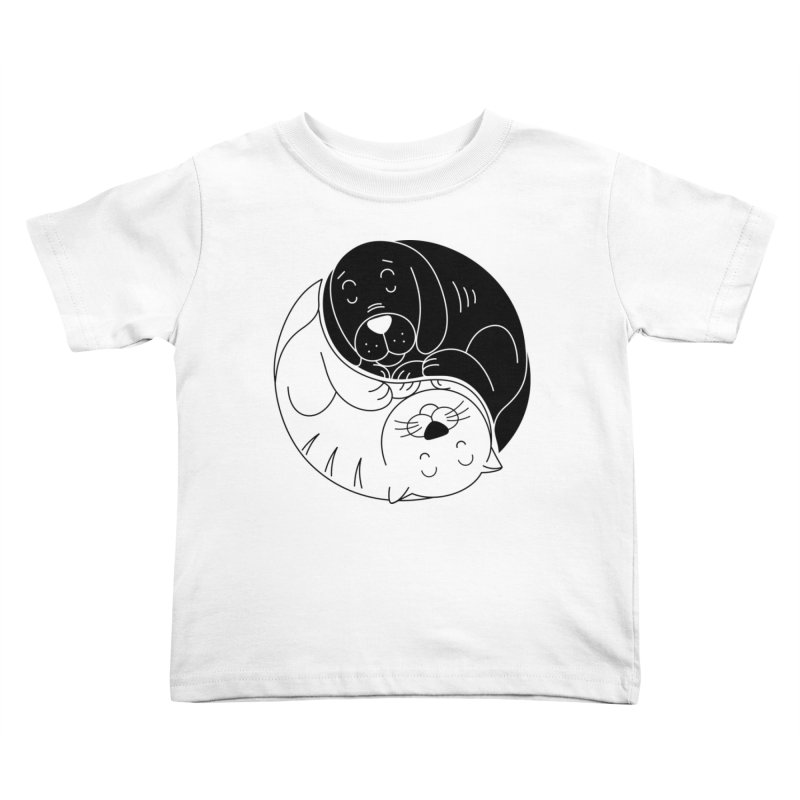 Cats And Dogs Kids Toddler T-Shirt by netralica's Artist Shop