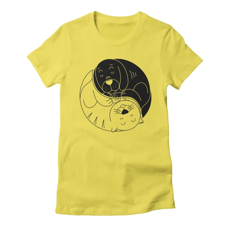 Cats And Dogs Women's T-Shirt by netralica