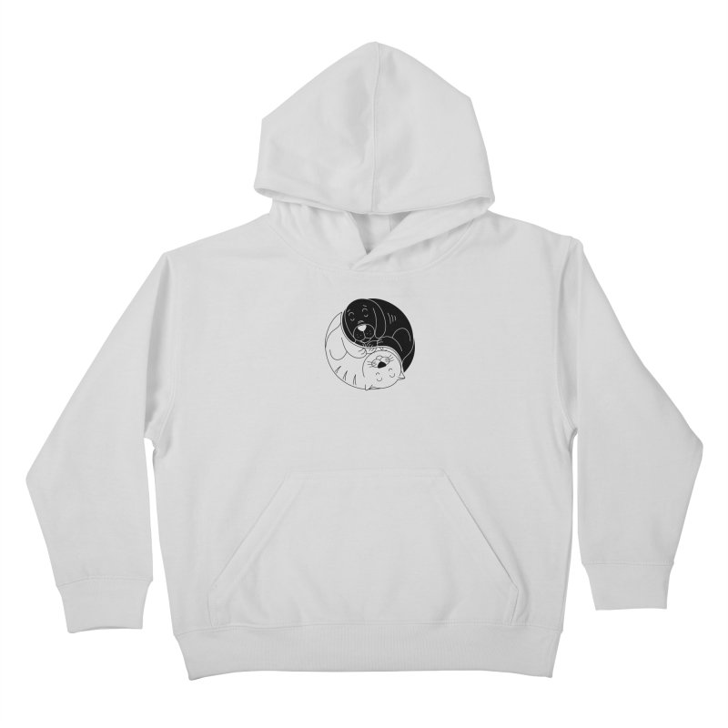Cats And Dogs Kids Pullover Hoody by netralica