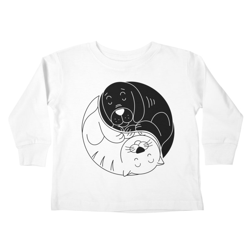 Cats And Dogs Kids Toddler Longsleeve T-Shirt by netralica
