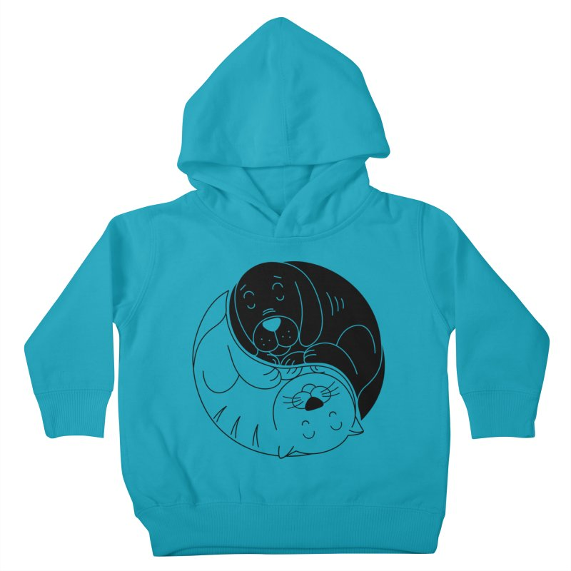 Cats And Dogs Kids Toddler Pullover Hoody by netralica's Artist Shop