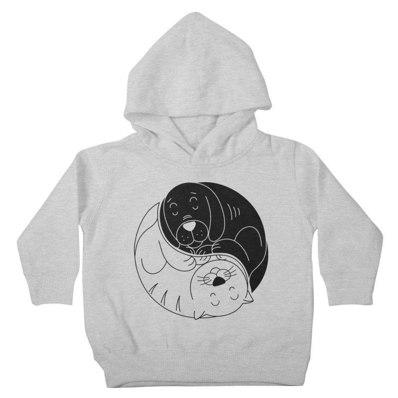 Cats And Dogs Kids Toddler Pullover Hoody by netralica