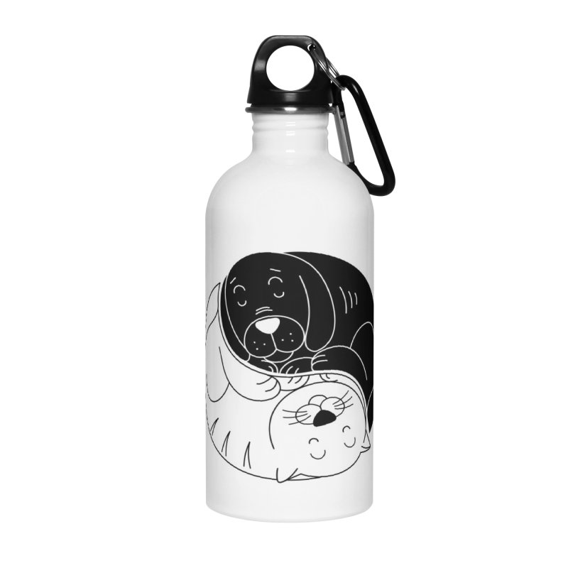 Cats And Dogs Accessories Water Bottle by netralica