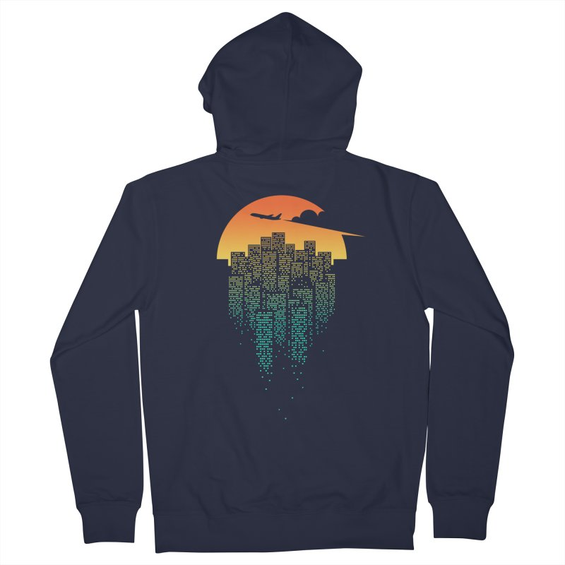 So Goodbye Men's French Terry Zip-Up Hoody by netralica's Artist Shop