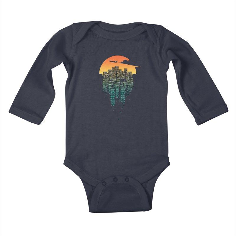 So Goodbye Kids Baby Longsleeve Bodysuit by netralica's Artist Shop