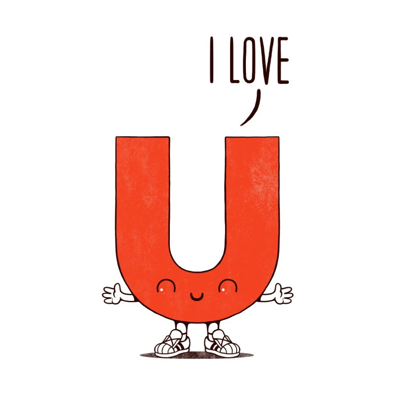 I LOVE U Home Throw Pillow by netralica
