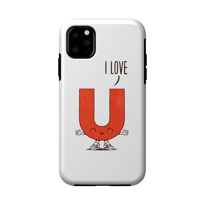 I LOVE U Accessories Phone Case by netralica