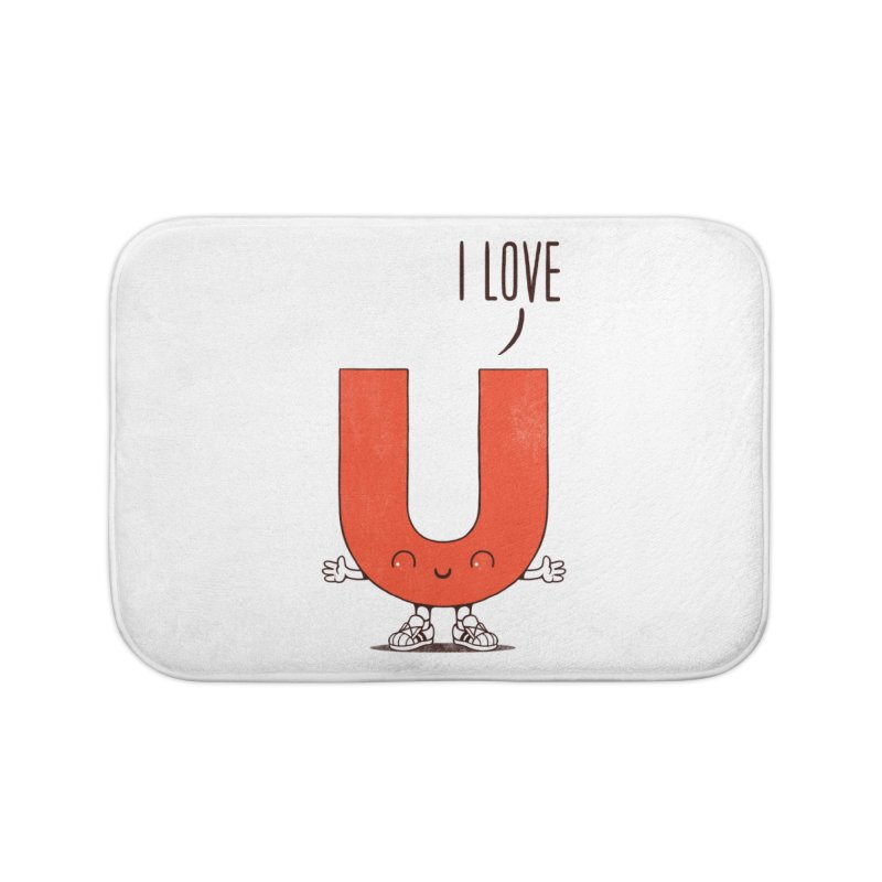 I LOVE U Home Bath Mat by netralica