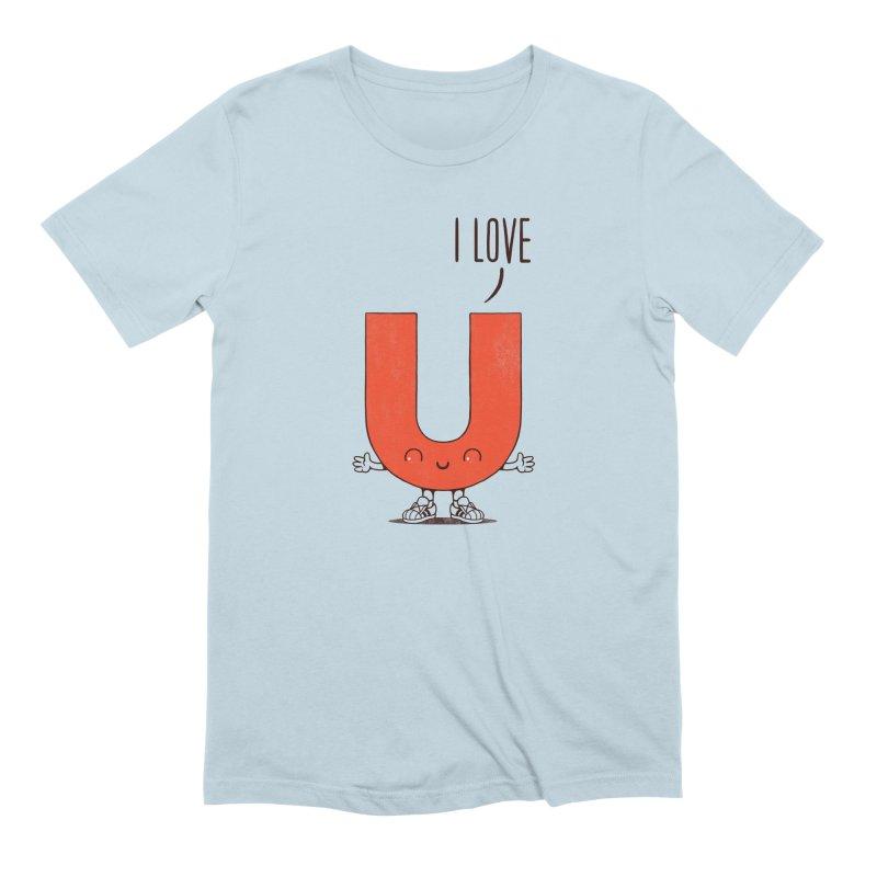 I LOVE U Men's Extra Soft T-Shirt by netralica