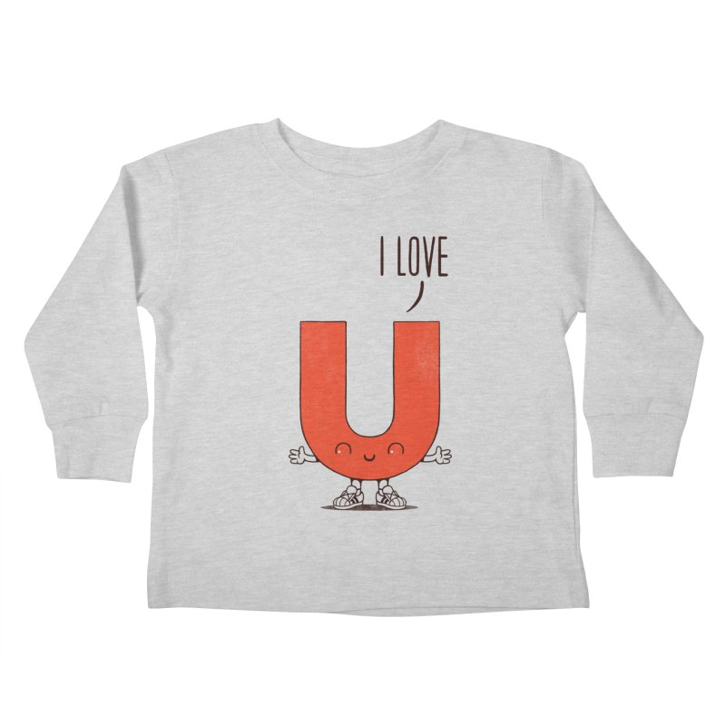I LOVE U Kids Toddler Longsleeve T-Shirt by netralica