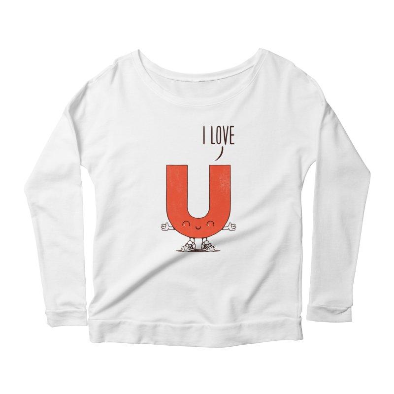 I LOVE U Women's Scoop Neck Longsleeve T-Shirt by netralica's Artist Shop