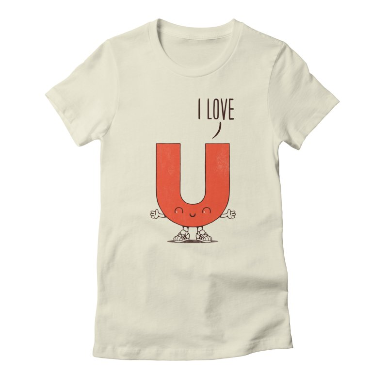 I LOVE U Women's Fitted T-Shirt by netralica