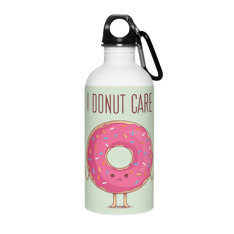 I DONUT CARE Accessories Water Bottle by netralica