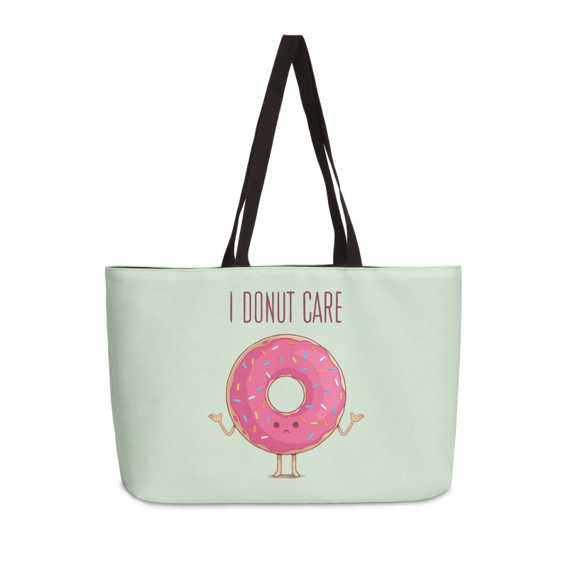 I DONUT CARE Accessories Weekender Bag Bag by netralica