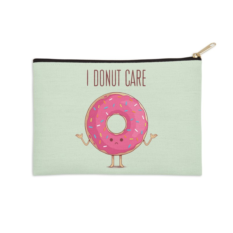 I DONUT CARE Accessories Zip Pouch by netralica