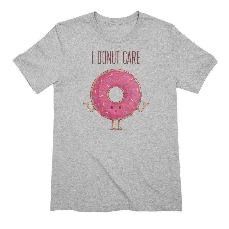 I DONUT CARE Men's Extra Soft T-Shirt by netralica