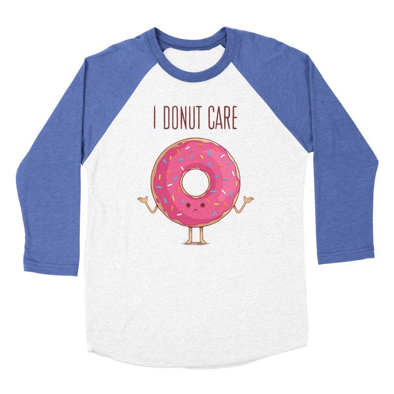 I DONUT CARE Men's Baseball Triblend Longsleeve T-Shirt by netralica's Artist Shop