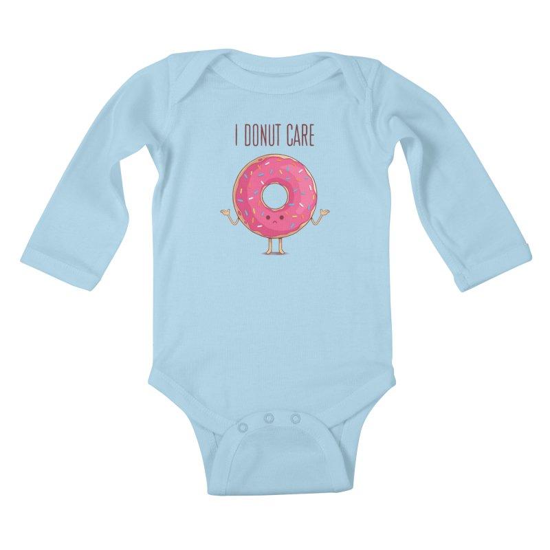 I DONUT CARE Kids Baby Longsleeve Bodysuit by netralica