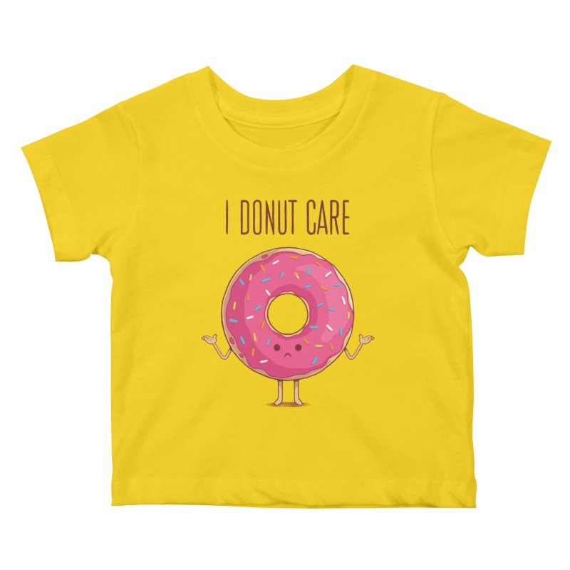 I DONUT CARE Kids Baby T-Shirt by netralica