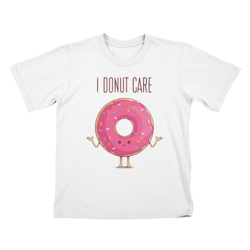 I DONUT CARE Kids T-Shirt by netralica