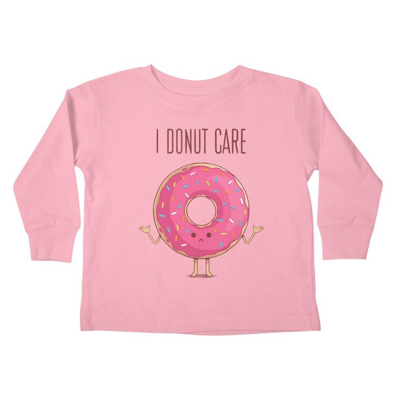 I DONUT CARE Kids Toddler Longsleeve T-Shirt by netralica